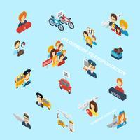 Personenvervoer isometrisch