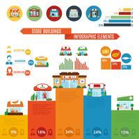 Winkel gebouw Infographics