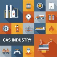 gas pictogram plat