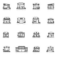 Winkel gebouwen set