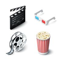 bioscoop realistische set vector
