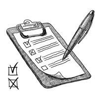 Klembord met checklist