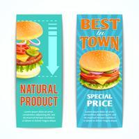 fast food-banners instellen vector