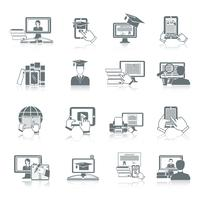 Online onderwijs pictogram