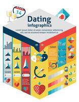 datinge infographicsreeks vector