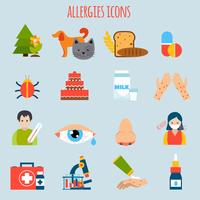 Allergieën Icon Set vector