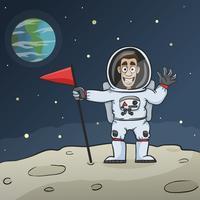Astronaut op maan vector