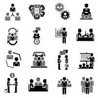 Vergadering Icon Black vector