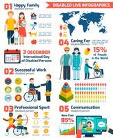 Gehandicapte Infographics Set vector