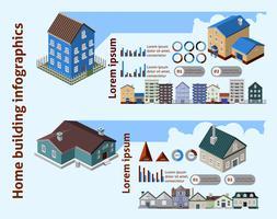 Home gebouw Infographics vector