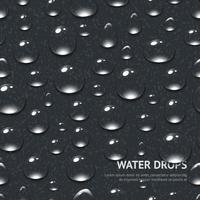 Water druppels naadloze patroon