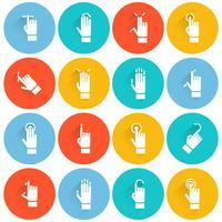 Hand aanraken scherm platte pictogram