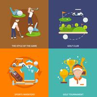 Golf vlakke set vector