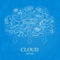 Doodle sociale wolk