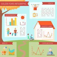 Senior levensstijl Infographics