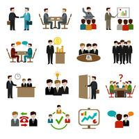 Vergadering Icons Set vector