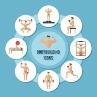bodybuilding pictogrammen instellen