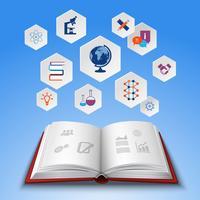 Onderwijs conceptenset vector