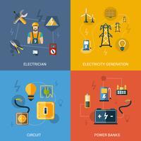 Elektriciteits vlakke set