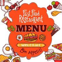 Fast Food-menu vector