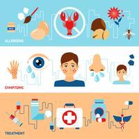 Allergie-banner instellen vector