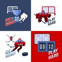 Hockey ontwerpconcept vector
