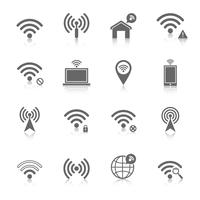 Wi-fi-pictogrammen instellen vector