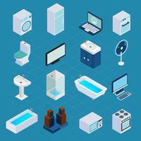 Isometrische huishoudelijke apparaten