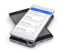 Nieuwsapplicaties voor smartphones vector