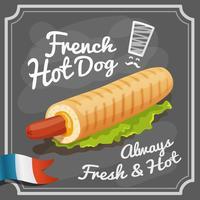 Franse hotdog-poster