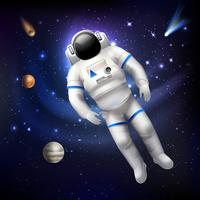 Astronaut in de ruimte vector