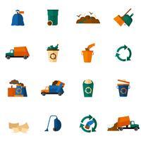 platte vuilnispictogrammen