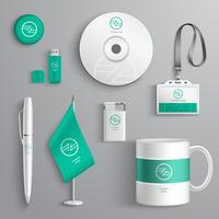 Huisstijl ontwerp vector