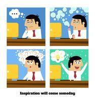 Inspiratie zal komen vector