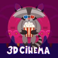 Wasbeer bioscoop Poster vector