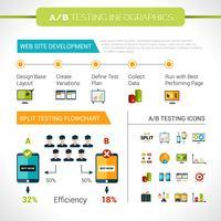 Ab-testen van Infographics vector