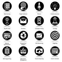 seo pictogrammen zwart