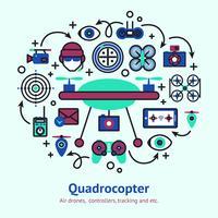 drone ontwerpconcept vector
