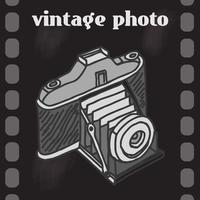 Vintage camera poster vector