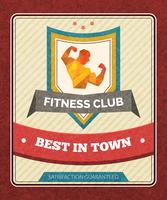 Fitness Club-poster vector