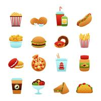 fast food pictogramserie vector