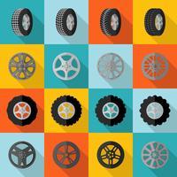 Tyre Icon Flat vector