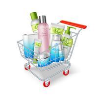 Cosmetica winkelwagen vector