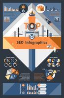 seo infographics instellen vector