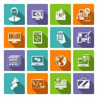 SEO Internet Marketing platte pictogram