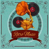 Retro muziek Poster vector
