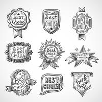 Beste keuze-badge vector