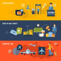 Luchthavenbanner instellen vector