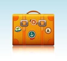 Reiskoffer met stickers vector