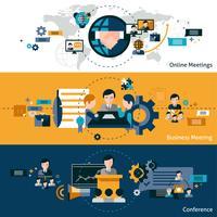 Zakelijke bijeenkomst Banners vector